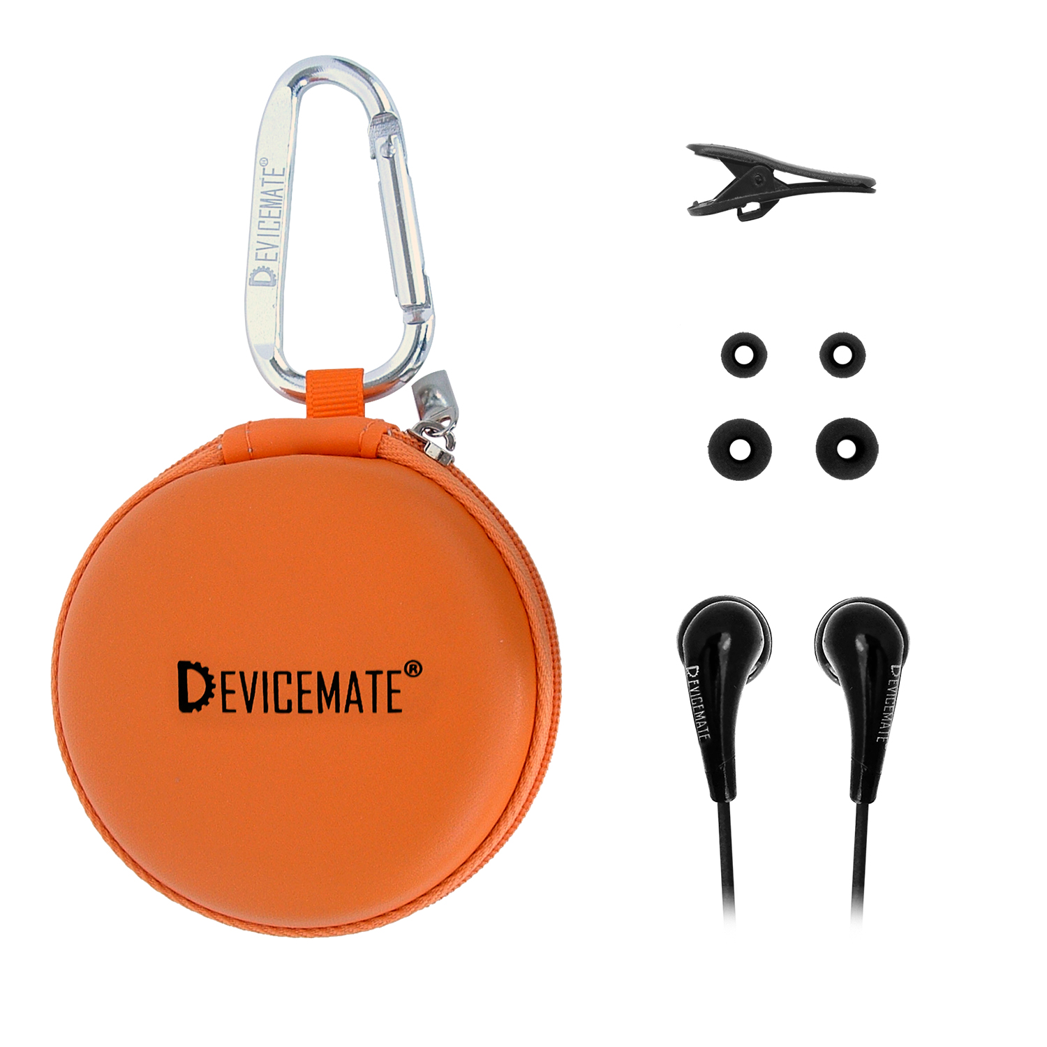 Devicemate SD 255-COR In-Ear Stereo Earphones [Orange] Case