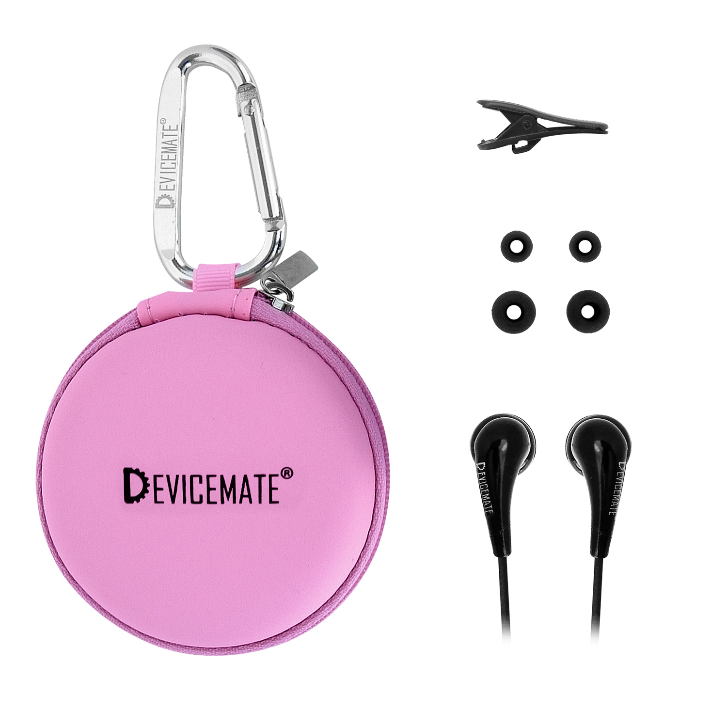 Devicemate SD 255-CPK In-Ear Stereo Earphones [Pink] Case