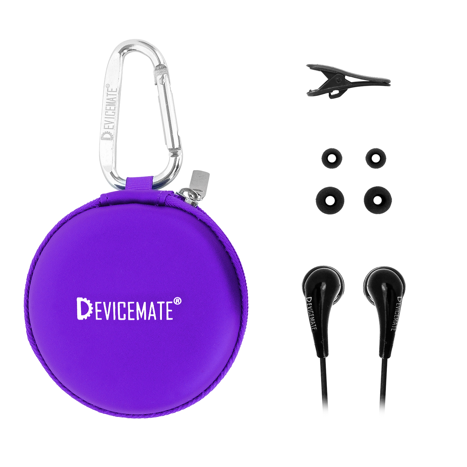 Devicemate SD 255-CPE In-Ear Stereo Earphones [Purple] Case