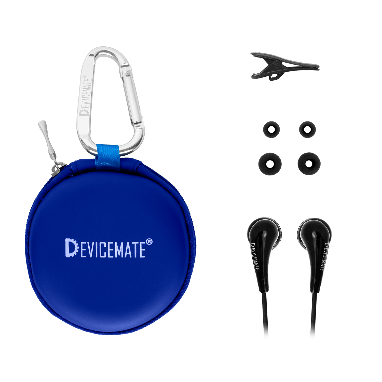 Devicemate SD 255-CTB In-Ear Stereo Earphones [Cobalt Blue] Case